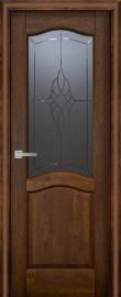 Фото -   Межкомнатная дверь Лео ДО, античный орех   | фото в интерьере