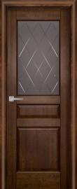 Фото -   Межкомнатная дверь Валенсия ДО, античный орех   | фото в интерьере
