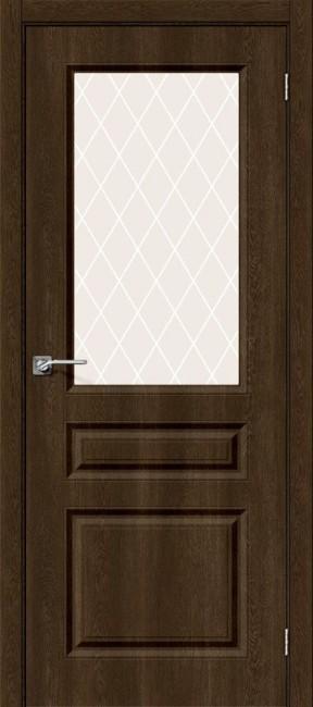 """Фото -   Межкомнатная дверь """"Скинни-15"""", по, Dark Barnwood     фото в интерьере"""