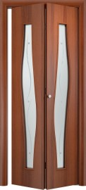 Складная дверь С-10 (ф), итальянский орех