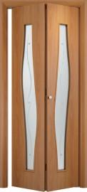 Складная дверь С-10 (ф), миланский орех