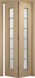 Складная дверь С-2, беленный дуб