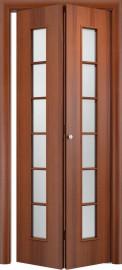 Складная дверь С-2, итальянский орех