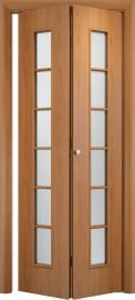 Складная дверь С-2, миланский орех