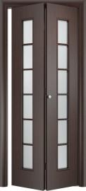 Складная дверь С-2, венге