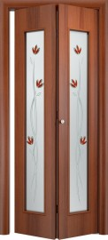 Складная дверь 22Х, итальянский орех