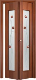 Фото -   Складная дверь 22Х, итальянский орех   | фото в интерьере