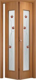 Складная дверь 22Х, миланский орех