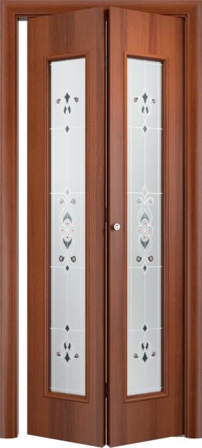Фото -   Складная дверь 23Х, итальянский орех     фото в интерьере