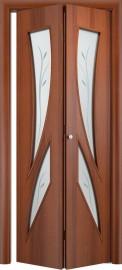 Складная дверь С-2 (ф), итальянский орех