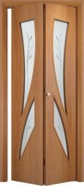 Складная дверь С-2 (ф), миланский орех