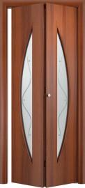 Складная дверь С-5, итальянский орех