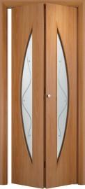 Складная дверь С-5, миланский орех