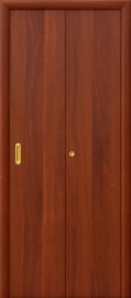 Складная дверь Гладкая, итальянский орех
