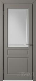 """Межкомнатная дверь """"Стокгольм"""", темно-серый, стекло бел.сат. с гравир"""