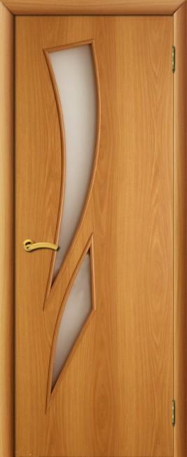 """Фото -   Межкомнатная дверь """"Стрелиция"""", по, миланский орех     фото в интерьере"""