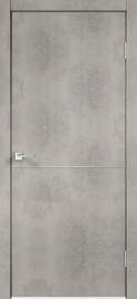 """Межкомнатная дверь """"TECHNO М1"""", пг, Муар светло-серый"""