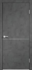 """Межкомнатная дверь """"TECHNO М1"""", пг, Муар темно-серый"""