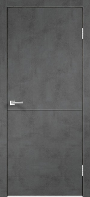 "Фото -   Межкомнатная дверь ""TECHNO М1"", пг, Муар темно-серый   | фото в интерьере"