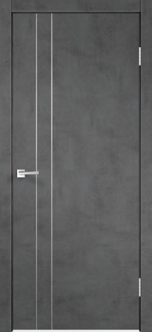 "Фото -   Межкомнатная дверь ""TECHNO М2"", пг, Муар темно-серый     фото в интерьере"