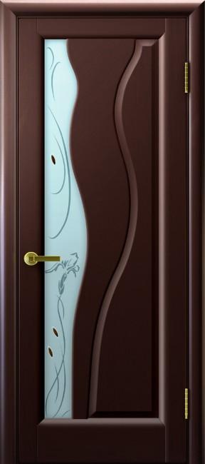 """Фото -   Межкомнатная дверь """"Торнадо"""", по, венге     фото в интерьере"""