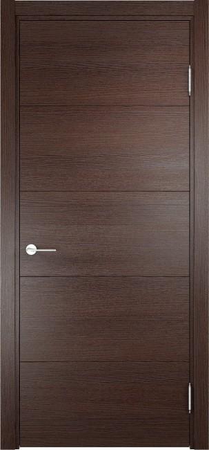 """Фото -   Межкомнатная дверь """"Турин 01"""", пг, дуб графит вералинга     фото в интерьере"""