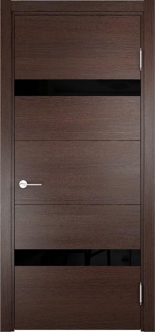 """Фото -   Межкомнатная дверь """"Турин 05"""", по, дуб графит вералинга     фото в интерьере"""