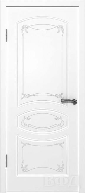 "Межкомнатная дверь ""Версаль"", пг, белый"