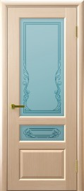 "Межкомнатная дверь ""Валентия 2"", по, беленый дуб"