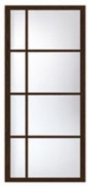 Фото -   Перегородка раздвижная с асимметричными стеклами     фото в интерьере