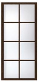 Фото -   Перегородка раздвижная с симметричными стеклами   | фото в интерьере