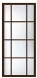 Фото -   Перегородка раздвижная двенадцать стекол     фото в интерьере