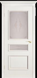 """Межкомнатная дверь """"Вена"""", по, белый ясень"""