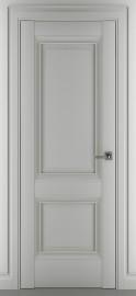 """Межкомнатная дверь """"Венеция В1"""", пг, серый матовый"""