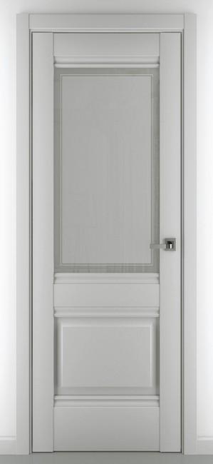 """Фото -   Межкомнатная дверь """"Венеция В4"""", по, серый матовый     фото в интерьере"""