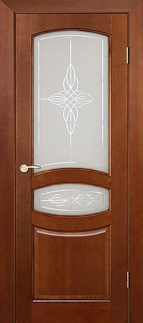 """Фото -   Межкомнатная дверь """"Виктория"""", по, ирокко морение     фото в интерьере"""