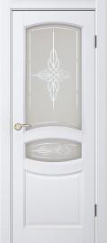 """Межкомнатная дверь """"Виктория"""", по, Белый жемчуг"""