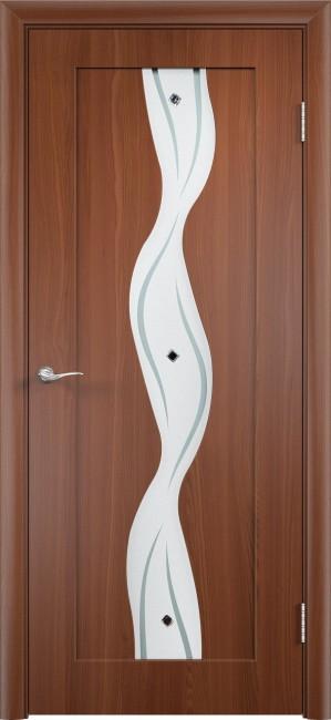 """Фото -   Межкомнатная дверь ПВХ """"Вираж"""", по, итальянский орех     фото в интерьере"""