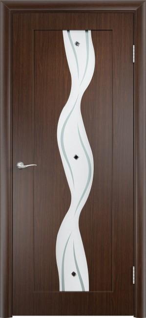 """Фото -   Межкомнатная дверь ПВХ """"Вираж"""", по, венге     фото в интерьере"""