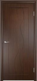 """Межкомнатная дверь ПВХ """"Вираж"""", пг, венге"""