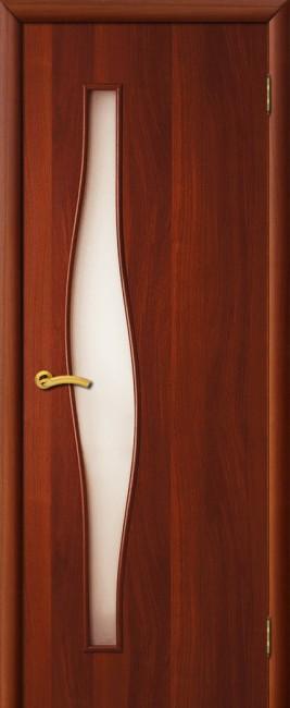 """Фото -   Межкомнатная дверь """"Волна"""", по, итальянский орех     фото в интерьере"""