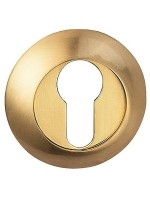 Фото -   Накладка на цилиндр BUSSARE, золото матовое   | фото в интерьере
